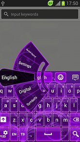 GO Keyboard Deep Purple