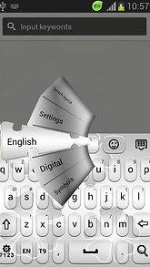 GO Keyboard Clean White