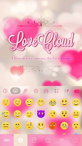 Love Cloud Kika Keyboard Theme