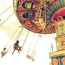 Swing Carousel At Fairground
