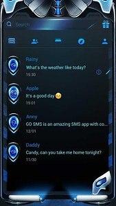 FREE-GO SMS BLUE MACHINE THEME