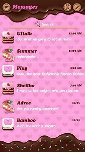 (FREE) GO SMS CHOCOLATE THEME