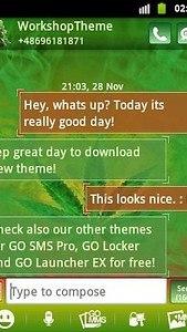 GO SMS Theme WEED GANJA
