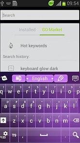 Keyboard Free Purple