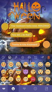Halloween Emoji Keyboard Theme