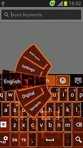Keyboard Neon Orange