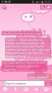 GO SMS Pro Theme Pink Animal