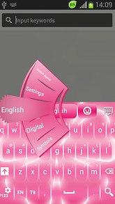 GO Keyboard Pink Flower