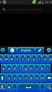 GO Keyboard Blue Theme