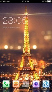 Paris Night C Launcher Theme