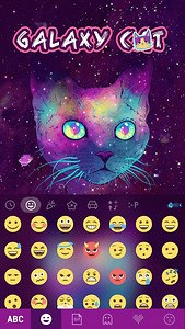 Galaxy Cat Emoji Kika Keyboard