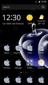 Glass apple theme