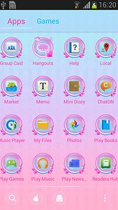 GO Launcher Hearts Theme