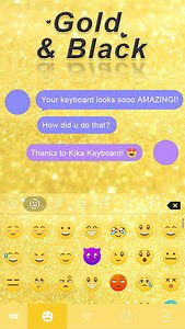 Gold & Black Keyboard Theme
