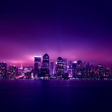 New York Purple Lights