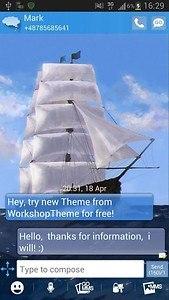 GO SMS Pro Theme Sea Ship
