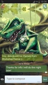 GO SMS Pro Theme dinosaur