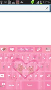 Pink Love Keyboard Free