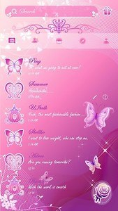 (FREE) PINK BUTTERFLY THEME