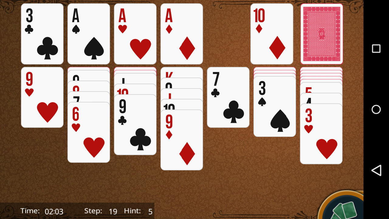 solitaire card games 3 card klondike