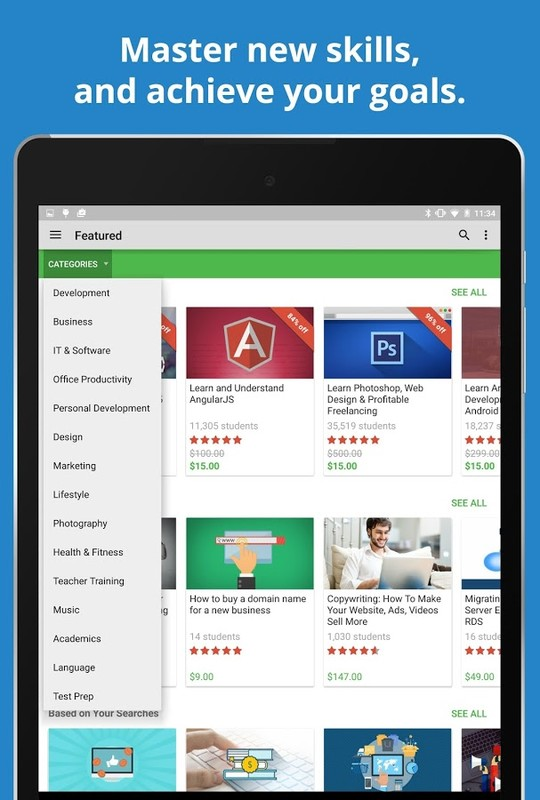 Udemy Online Courses APK Free Android App download - Appraw