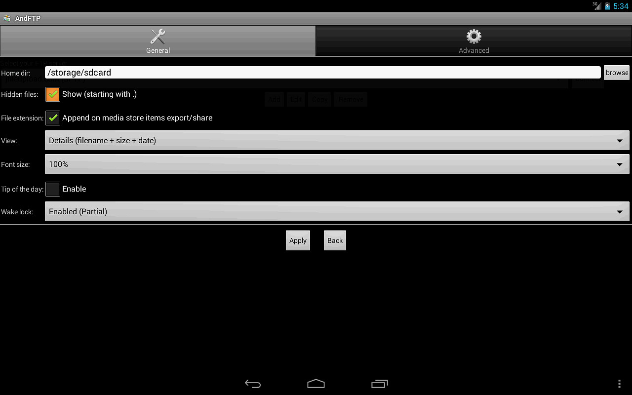 AndFTP (your FTP client) APK Free Tools Android App download - Appraw