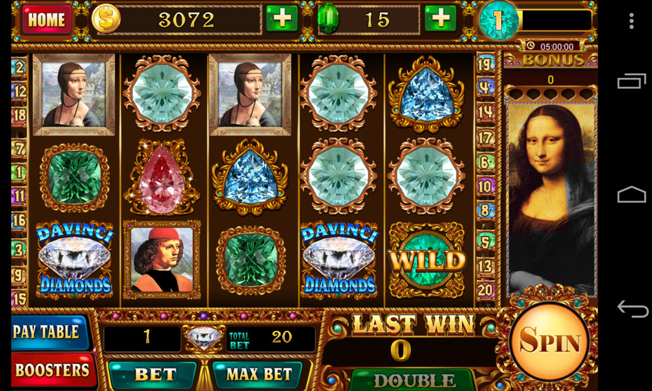 Da Vinci Diamonds Slots Free Download