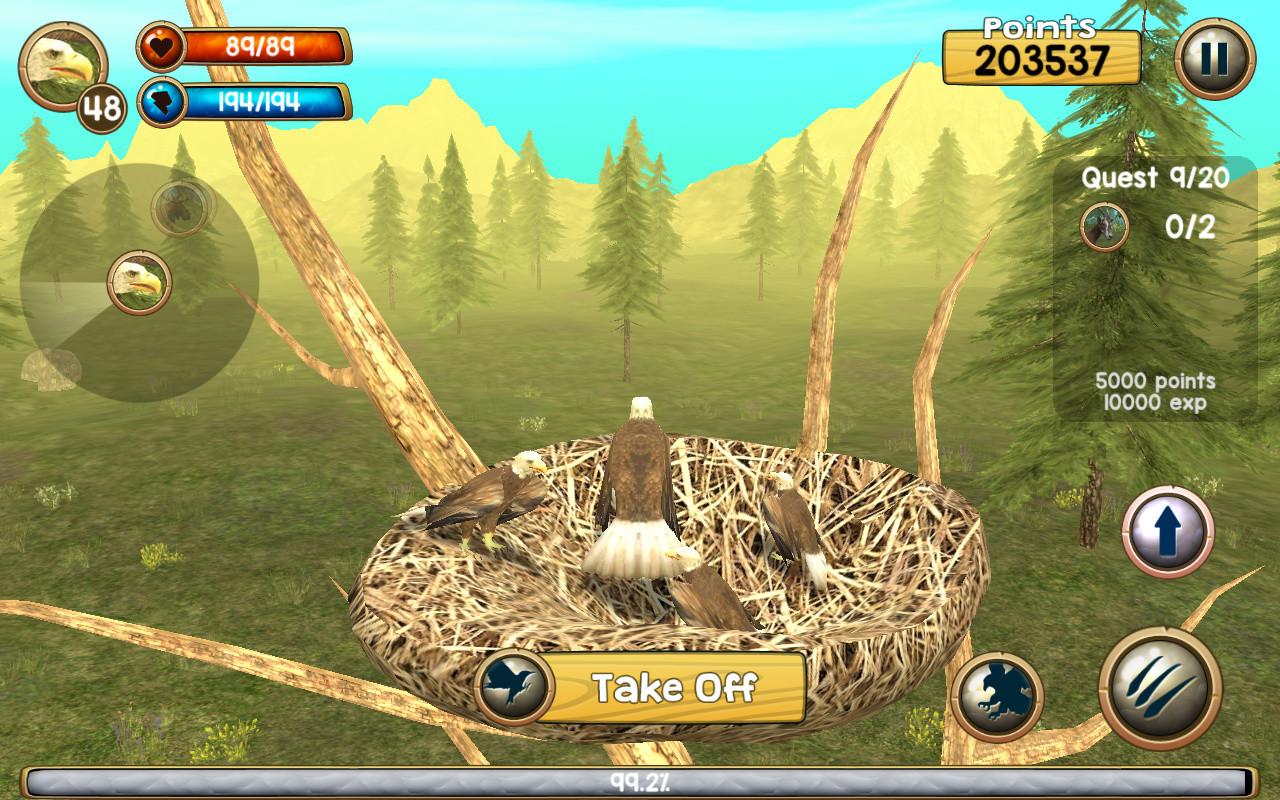 wild eagle sim 3d apk free simulation android game download appraw. Black Bedroom Furniture Sets. Home Design Ideas