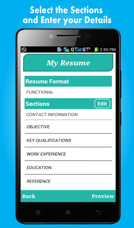 smart resume builder    cv free apk free android app