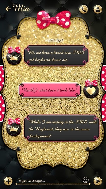 (FREE) GO SMS BOWKNOT THEME Free Android Theme download - Appraw