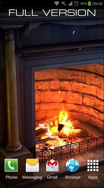 fireplace 3d free lwp free android live wallpaper download