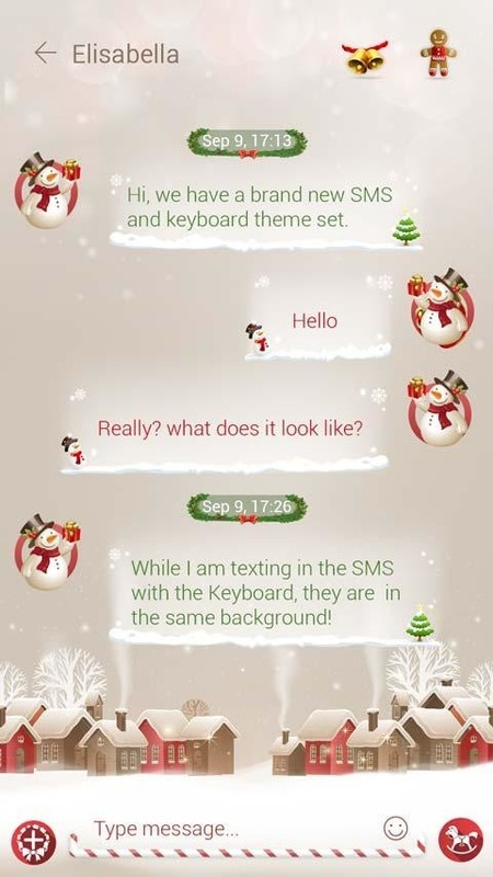 GO SMS PRO CHRISTMAS THEME Free Android Theme download - Appraw