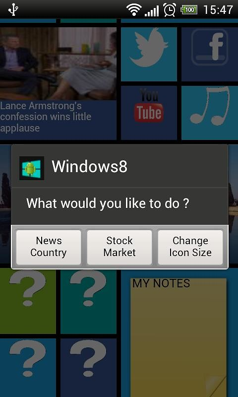 Home8 like Windows 8 launcher APK Free Tools Android App download