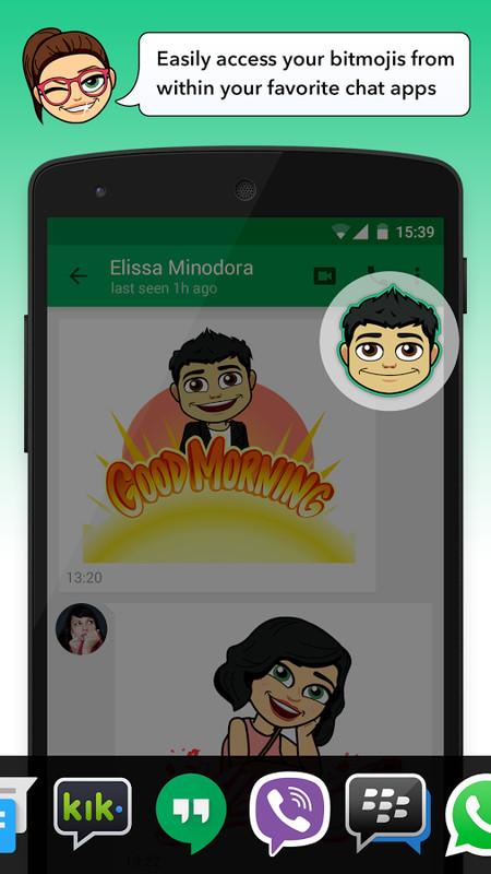 Bitmoji - Din avatar Emoji Apk gratis Android App download-8047
