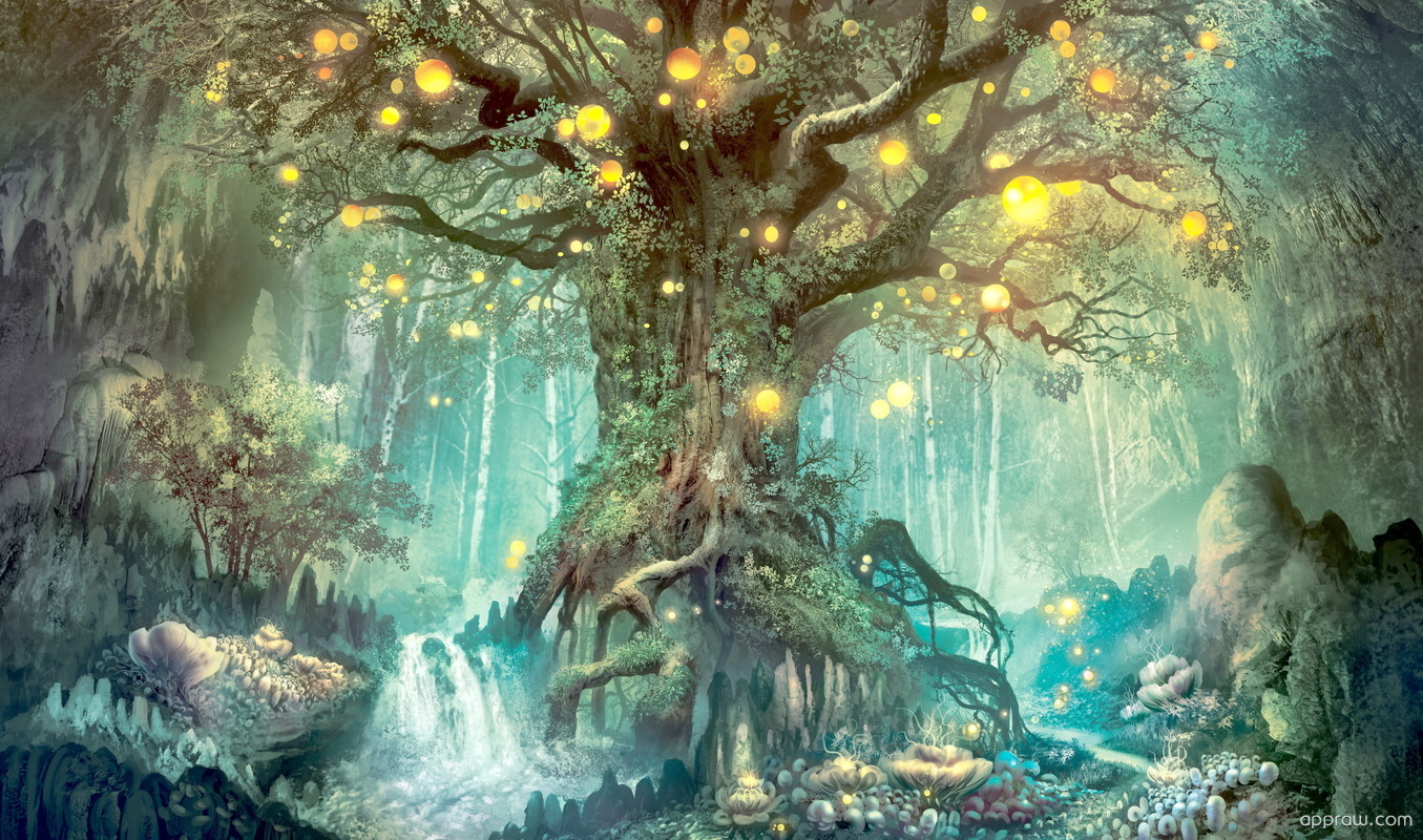 Magical Tree Within A Fantasy World Wallpaper Download