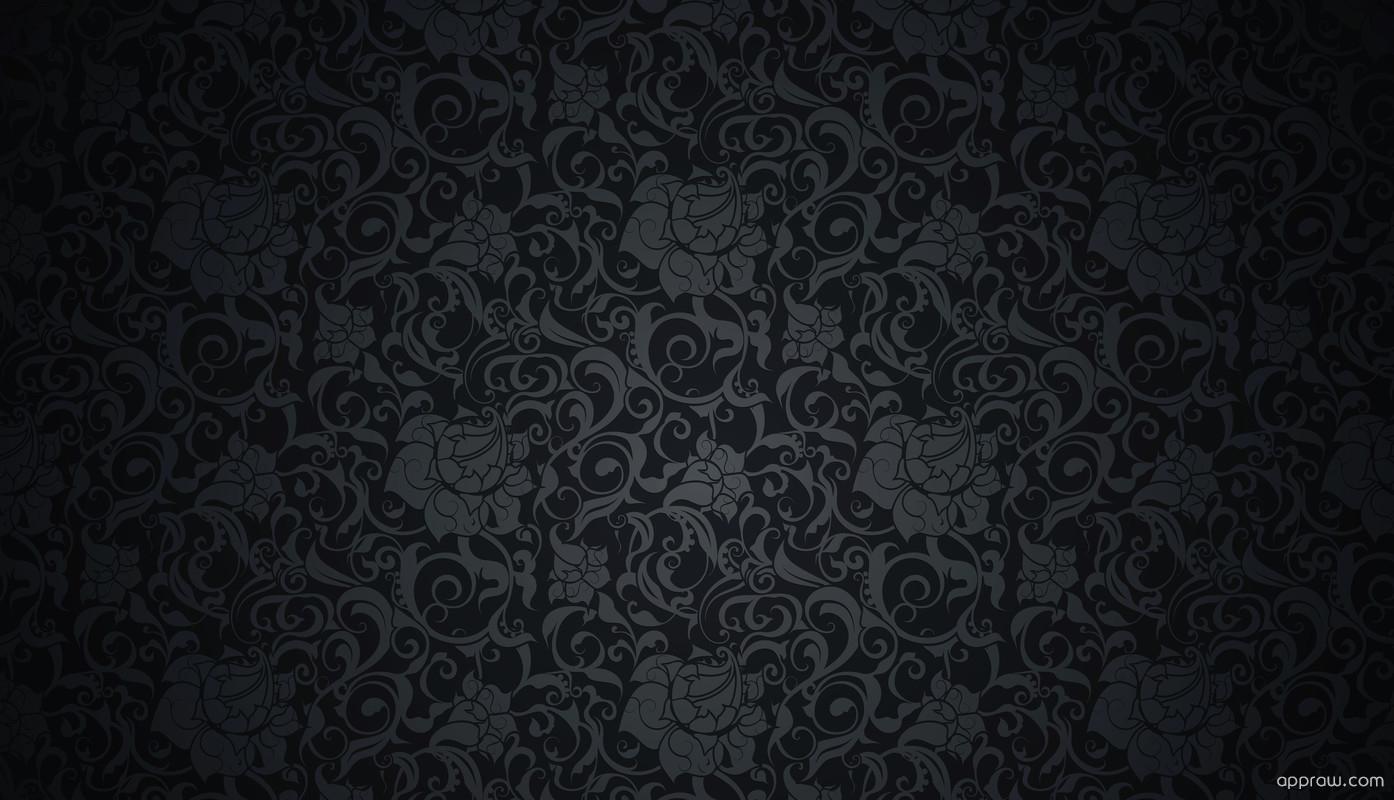 Dark Flower Pattern Wallpaper download
