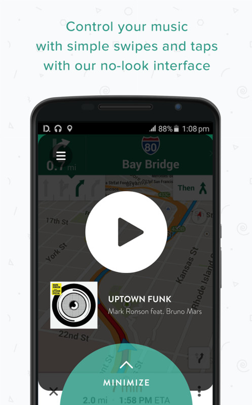 drivemode driving interface apk free android app download appraw. Black Bedroom Furniture Sets. Home Design Ideas