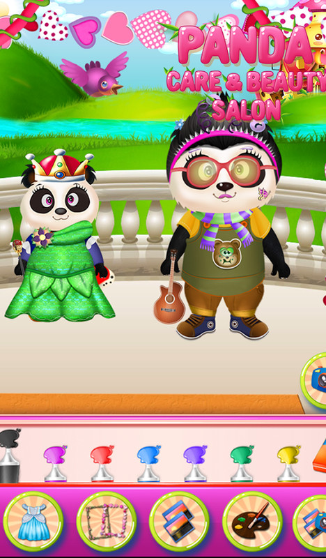 Panda care beauty salon apk free casual android game for Salon games free download