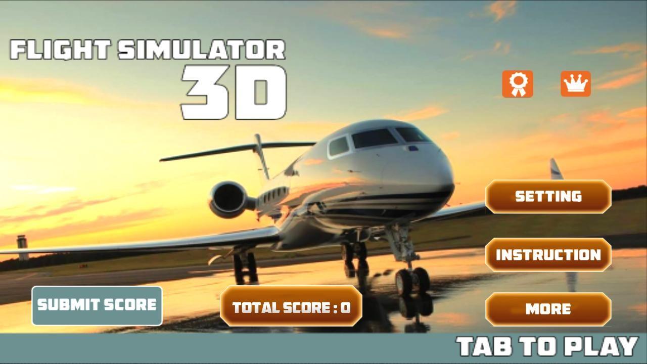Flight simulator 3d apk free simulation android game for Simulatore 3d