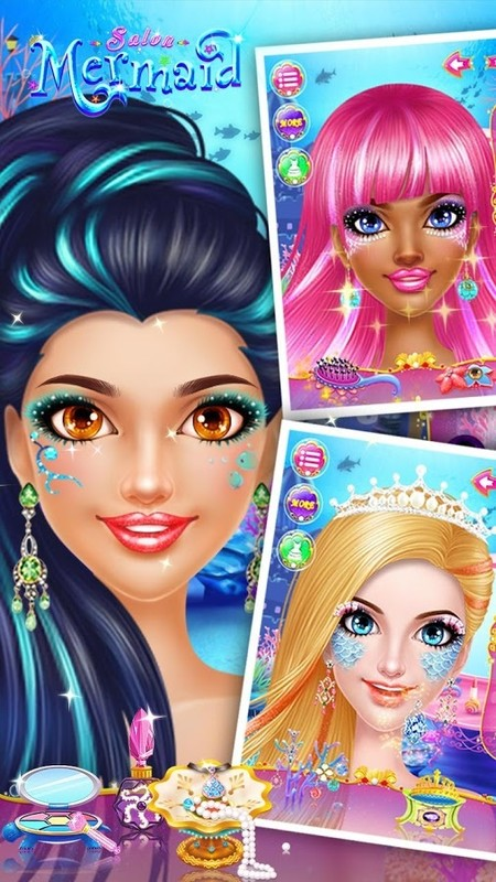 Mermaid makeup salon apk free casual android game download for Salon games free download