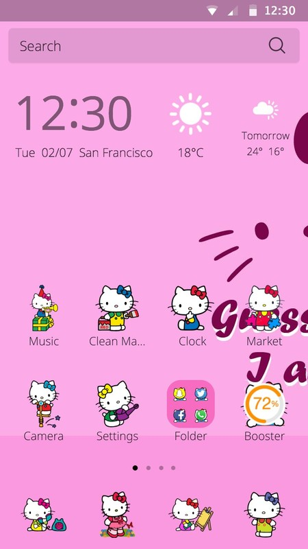 Hello Kitty Theme Free Android Theme Download Appraw