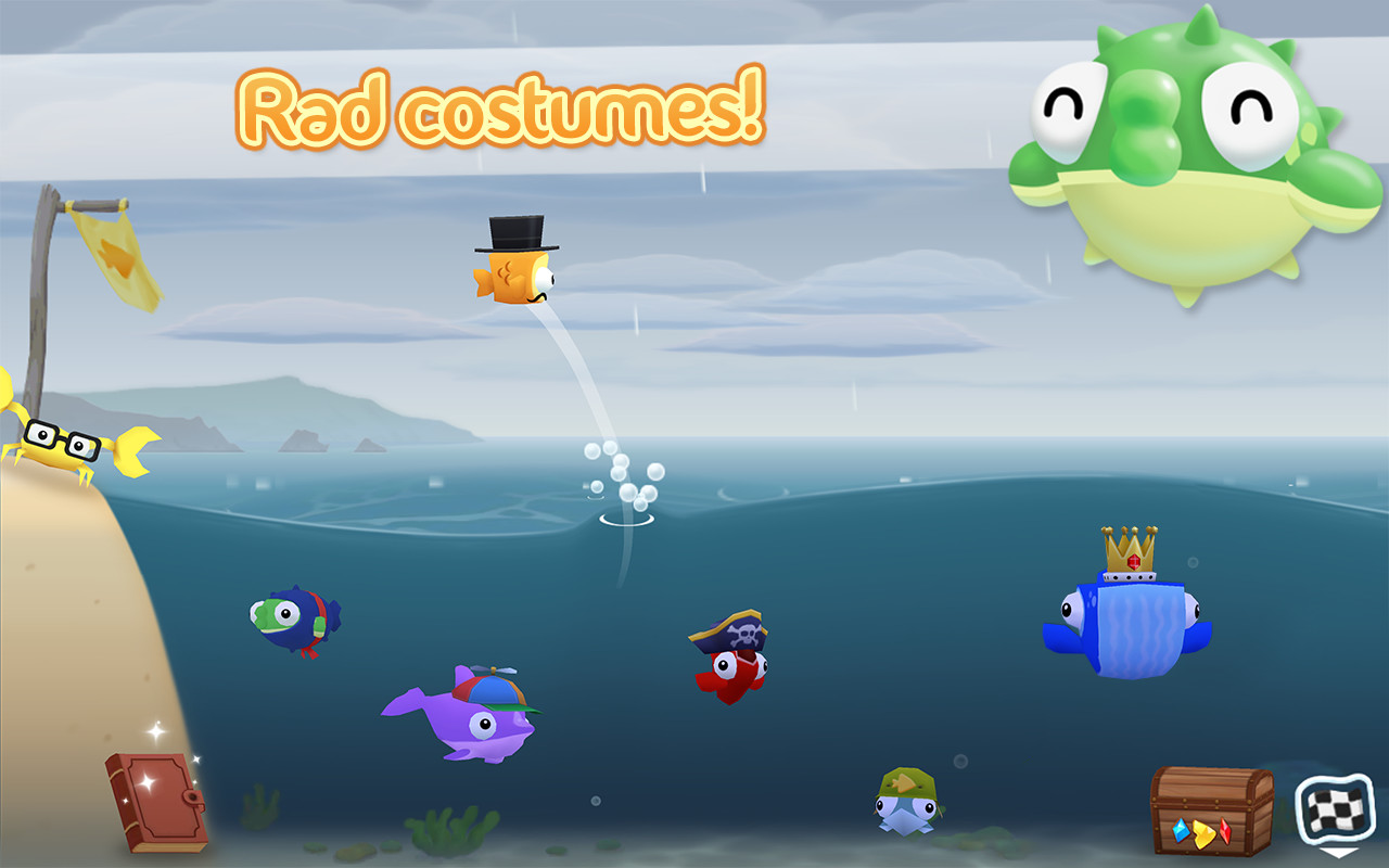 Fish out of water apk free family android game download for Fishing game android