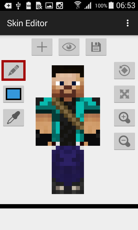 Skin Editor For Minecraft APK Free Tools Android App Download Appraw - Skins para minecraft pe apk