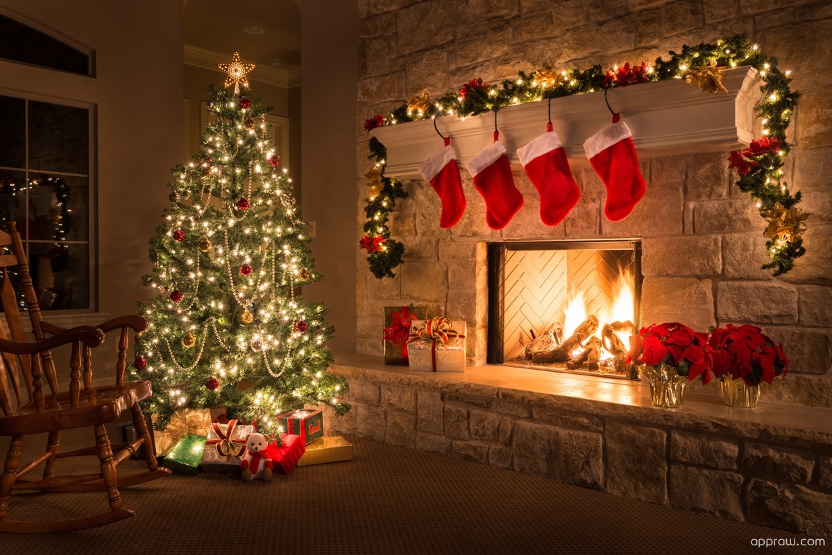 Christmas Fire Place.Christmas Fireplace Wallpaper Download Christmas Hd