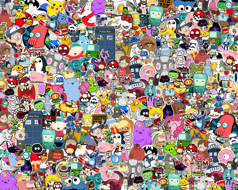 Cartoon Collage Wallpaper download - Cartoon HD Wallpaper - Appraw