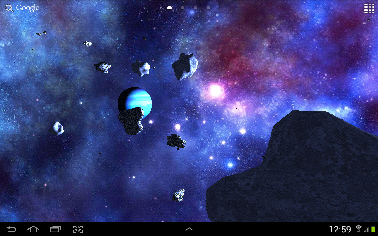 Asteroids 3d live wallpaper free android live wallpaper for Wallpaper live home