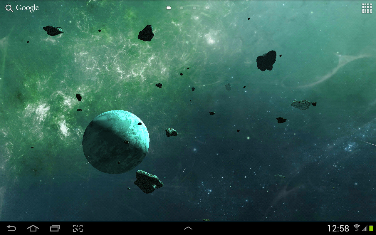 asteroids 3d live wallpaper free android live wallpaper