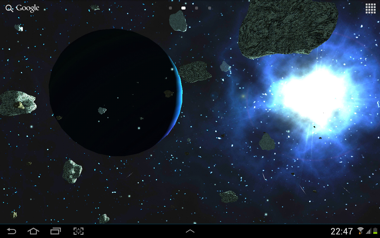 Asteroids 3d live wallpaper free android live wallpaper for Wallpaper en movimiento