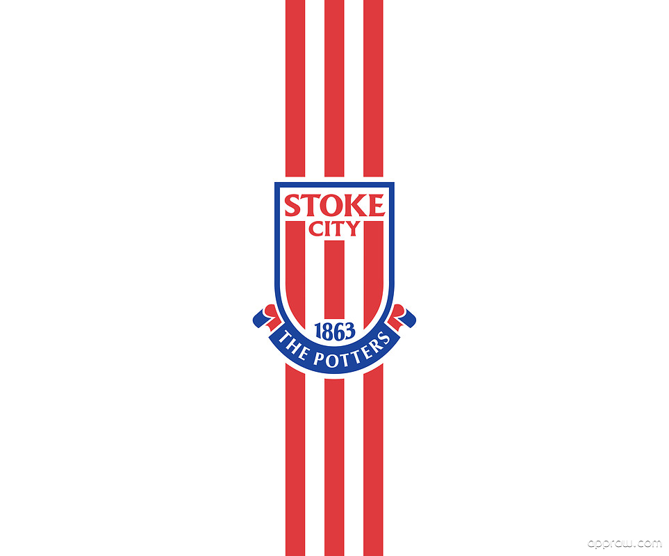 Stoke City FC Simple Stripes Wallpaper Download