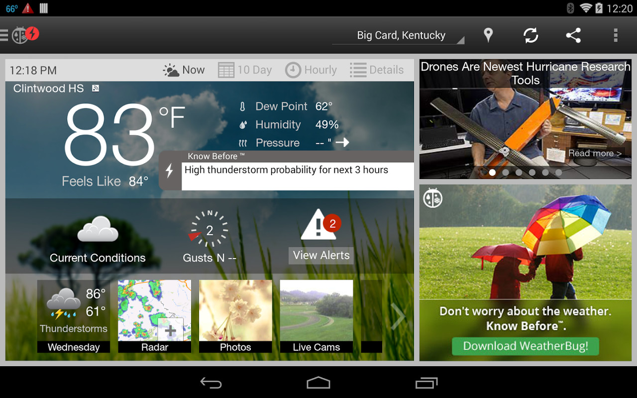 WeatherBug APK Free Weather Android App download - Appraw